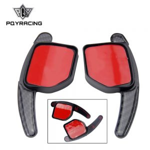 PQY - High Quality new Paddle Shift Extensions For Audi Steering Wheel Shifters Gear Carbon Fiber PQY-PSD06