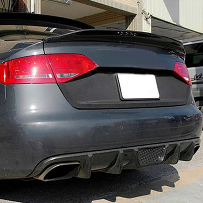 A4 B8 Sedan Modified Caractere Style Carbon Fiber Rear