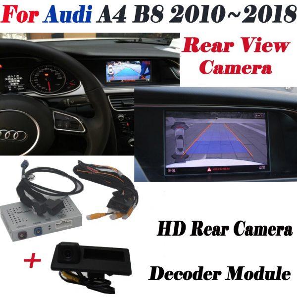 Reverse Camera For Audi A4 B8 2010~2018 Interface Adpter Parking Rear Backup Camera Connect Original Screen MMI Decoder