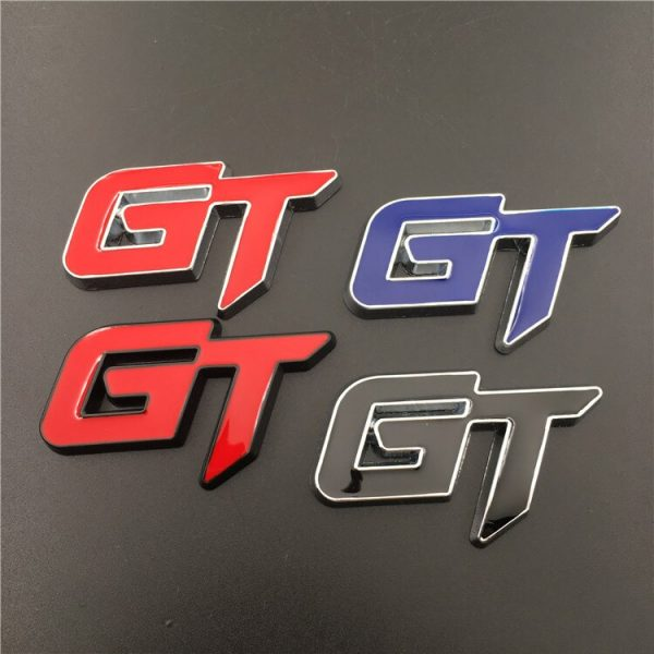 For Toyota Audi Honda GT Rear Trunk Sticker Front Grille Emblem for Corolla Camry Tundra A4 B6 B4 B8 RS5 Civic Jazz Decoration