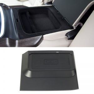 For Buick Lacrosse 2018 10W QI wireless charger fast charging plate central armrest box cover charging phone holder accessories