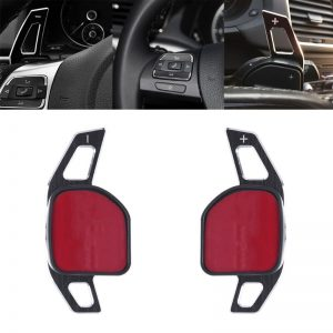 Car Steering Wheel DSG Paddle Extension Shifters Shift Sticker Decoration For AUDI A3 S3 A4 S4 B8 A5 S5 A6 S6 A8 R8 Q5 Q7 10166