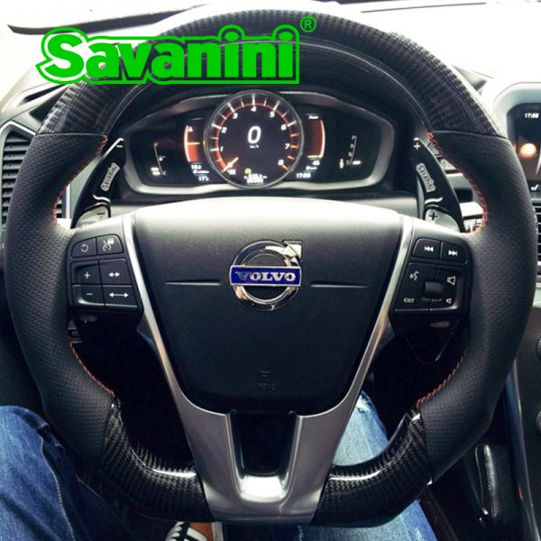 Savanini Aluminum Steering Wheel DSG Shift Paddle Shifter Extension For Volvo S60 L XC60 V40 V60 XC60 S80 auto car accessories