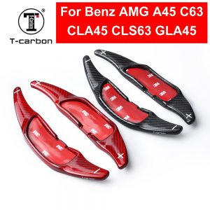 Car Styling Carbon Fiber Steering Wheel Shift Paddle Extension Shifter For Mercedes Benz AMG A45 CLA45 C63 GLA45 GLS63 GLE63 G63