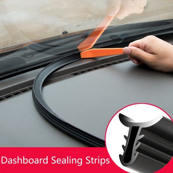 Car Soundproof Rubber Seal Dashboard Sealing Strip Styling Sticker For Audi A3 A4 A5 A6 A7 A8 B6 B7 B8 C5 C6 TT Q3 Q5 Q7 S3 S4