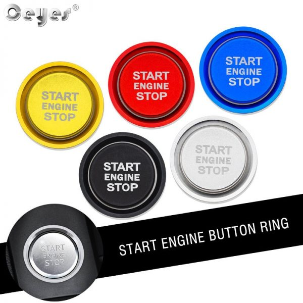 Ceyes Car Styling Sticker Accessories Auto Start Stop Engine Button Ignition Rings Case For Audi A4 A5 A6 A6L A7 C7 Q5 B8 Covers