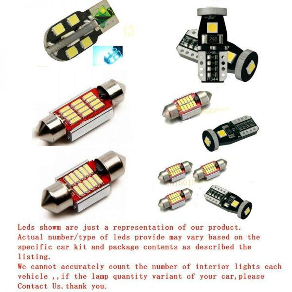 Free Shipping 14Pcs/Lot 12v car-styling Xenon White/Blue Package Kit LED Interior Lights For Audi A4/S4 (B8) Sedan 2009