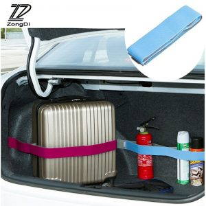 ZD Car Styling Trunk Storage Fixed Strap Stickers For Alfa Romeo 159 BMW E46 E39 E36 E90 Audi A3 A6 C5 A4 B6 B8 Accessories 1set