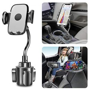 Yoocaa Cup Phone Holder for Car, Ultra Stable Flexible Gooseneck Phone Cup Holder, Expandable Base Hands Free Car Phone Cup Holder Compatible with All Smart Cell Phone.