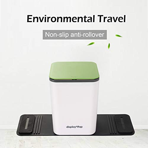 Display4top Auto Car Trash Can Bin Waste Container Plastic with lid,Leakproof Vehicle Trash Bin,3L/0.8 Gallon (Green)