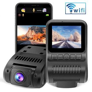 "Upgraded Dash Cam Built in WiFi 1080P FHD Mini Car Dashboard Camera Recorder with 2.0"" LCD Screen 170°Wide Angle, Super Night Vision, G-Sensor, WDR, Parking Monitor, Loop Recording, Motion Detection"