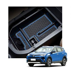 YEE PIN 2020 Rav 4 Tray Center Console Organizer Tray Car Glove Box Storage Box Armrest Box Accessories for RAV 4 XA50 2019 2020 Console Organizer (blue)
