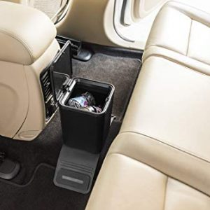 Meistar Car Trash Can Waste Container Plastic with lid. Leak Proof Vehicle Trash Bin. 0.8 GAL with Color Box.