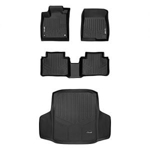SMARTLINER Custom Fit Floor Mats 2 Rows and Cargo Liner Set Black for 2018-2019 Honda Accord - All Models