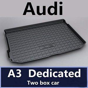 TUTU-C Car Boot Pad Carpet Cargo Mat Trunk Liner Tray Floor Mat Tray Floor Carpet for Audi A1 A3 A4 A5 A6 A7 A8 Q3 Q5 Q7 2015 2016 2017 2018 TPO Material (Hatchback A3 14-18)