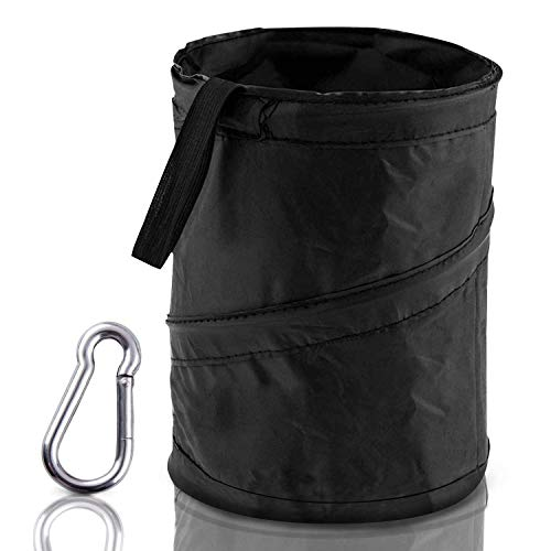 iBayx Waste Bins Car Garbage Can Foldable Car Trash Bag Organizer Universal Traveling Portable Collapsible Pop up Leak Proof Car Trash Can