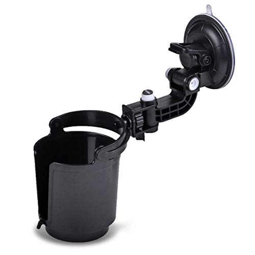 Zone Tech Recessed Folding Cup Drink Holder - Black Premium Quality Recessed Sturdy Black Folding Vehicle Adjustable Drink Cup Holder