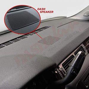 DashSkin Molded Dash Cover Compatible with 07-14 GM SUVs w/Dash Speaker in Black/Ebony (USA Made)