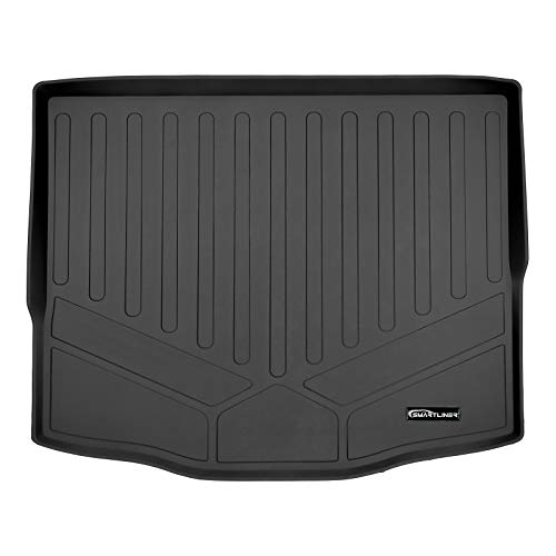 SMARTLINER All Weather Custom Fit Cargo Trunk Liner Floor Mat Behind 2nd Row Black for 2020 Ford Escape