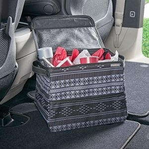 High Road StableMate Large Covered Car Trash Can with Leakproof Lining - Baja