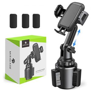 Car Cup Holder Phone Mount,Miracase Universal Cup Phone Holder Cradle Car Mount with Upgraded Cup Base for iPhone 11 Pro/XR/XS Max/X/8/7 Plus/6s/Samsung S10/Note 9/S8 Plus/S7,GPS etc