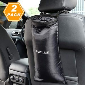 TOPLUS 2-Pack Car Trash Bag, Car Garbage Can, Car Trash Bin Waste Container Washable Leakproof Eco-Friendly Bags for Travelling, Outdoor, Home and Vehicle Uses