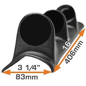 "GlowShift Universal Black Triple Pillar Gauge Pod - Fits Any Make/Model - ABS Plastic - Mounts (3) 2-1/16"" (52mm) Gauges to Vehicle's A-Pillar"