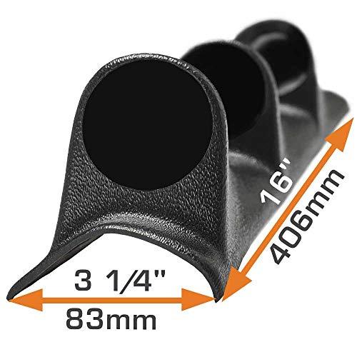 "GlowShift Universal Black Triple Pillar Gauge Pod - Fits Any Make/Model - ABS Plastic - Mounts (3) 2-1/16"" (52mm) Gauges to Vehicle's A-Pillar"