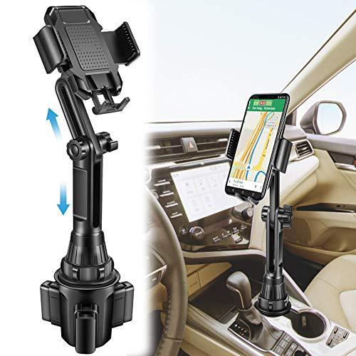 Lorima Car Cup Holder Phone Mount -Adjustable Cupholder Cell Phone Holder for Smartphone iPhone 11 Pro/XR/Xs/XS Max/X/8/7Plus/Galaxy/Xperia/Samsung