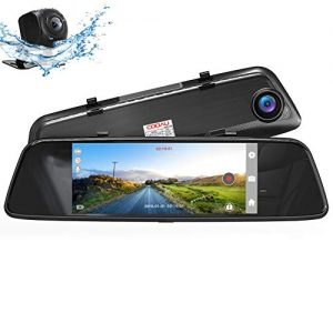 "COOAU Mirror Dual Night Vision Dash Cam, 7"" 1080P Full HD Touch Screen Front and Rear with Dual 170°Wide Angle, Parking Monitor, Motion Detection, G-Sensor, WDR, Loop Recording (4K 20MP)"