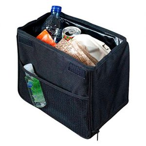 High Road TrashStand Weighted Car Trash Can with Lid and Leakproof Lining