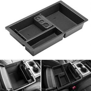 Tutor Auto Center Console Organizer for Chevrolet Chevy Suburban Yukon Silverado GMC Sierra Tahoe 2015 2016 2017 2018 Replace 22817343 for Full Console w/Bucket Seats ONLY