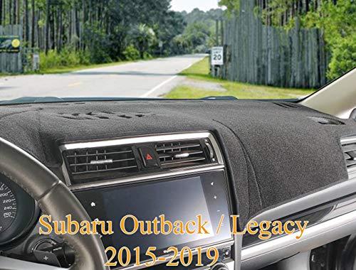 Yiz Dashboard Cover Dash Cover Mat Pad Custom Fit for Subaru Outback Legacy 2015 2016 2017 2018 2019 (15-19 Black) Z06