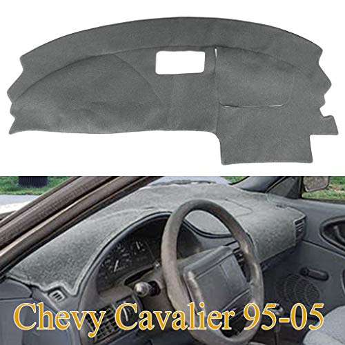 Yiz Dashboard Cover Dash Cover Mat Pad Carpet Custom Fit for Chevy Chevrolet Cavalier 1995-2005 (Gray) Y46