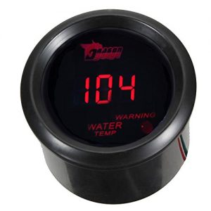 "ESUPPORT Car 2"" 52mm Digital Water Temp Gauge Red LED Fahrenheit F"