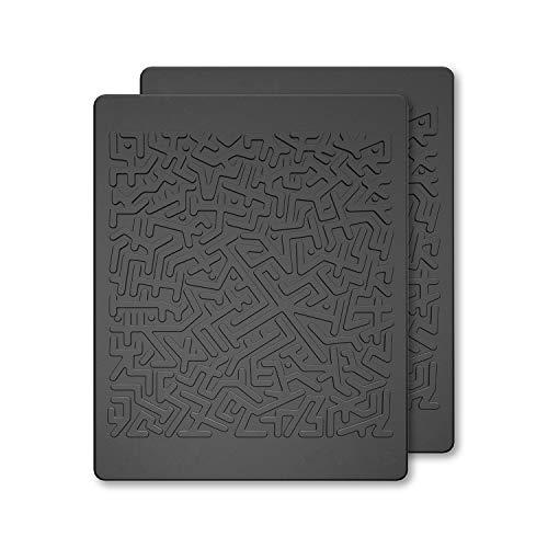 JIMISHA Anti Slip Pad, Magic Sticky Gripping Pad Sticky Gel Pad Multifunctional Fixate Gel Pads Non-Slip Mounting Pad Cell Pad, 6.3x5.1inch, Black