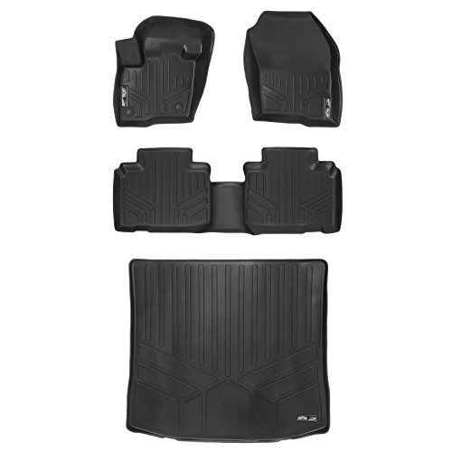 MAXLINER Floor Mats 2 Rows and Cargo Liner Set Black for 2015-2018 Ford Edge