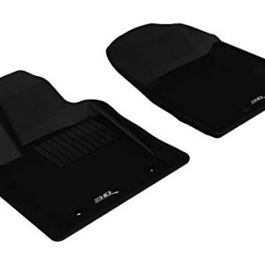 3D MAXpider Front Row Custom Fit All-Weather Floor Mat for Select Dodge Durango/Jeep Grand Cherokee Models - Kagu Rubber (Black)