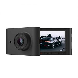 "YI Nightscape Dash Cam, 1080p Smart Wi-Fi Car Camera with Heat-Resistant Supercapacitor, Superb Night Vision, Sony Sensor, 140° FOV, 2.4""Screen, Phone App - Black"