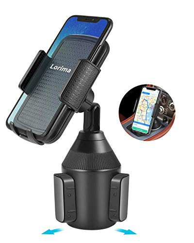 Lorima Cup Holder Phone Mount - Universal Adjustable Portable Car Cup Holder for Cell Phones...