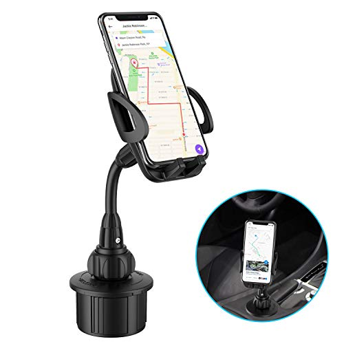 Car Cup Holder Phone Mount, Adjustable Gooseneck Cup Holder Cradle Car Mount 360°Rotatable Car Phone Holder for Cell Phone iPhone 11/Xs/X/8/7 Plus/Samsung Note 9/Galaxy S8,Huawei, etc.