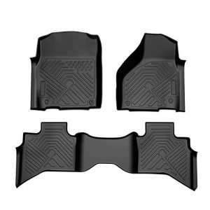 COOLSHARK DODOGE RAM 1500 Floor MATS, Custom Fit Floor Liners for 2013-2018 Dodge Ram 1500 Quad Cab (Extended Cab),Front and Rear Row Full Set Floor Mats All Weather Protection, Black