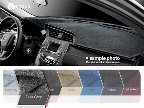 Fedar 2007-2013 Chevy Silverado Pickup/Gmc Sierra Pickup,2007-2014 Chevy Tahoe/Suburban/Acalanche/GMC Yukon Dashboard Cover Mat Pad-Dark Grey