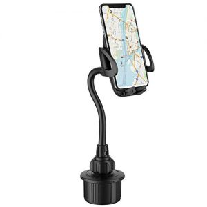Car Cup Holder Phone Mount,Adjustable Gooseneck Cell Phone Holder with 360° Rotatable Cradle for iPhone Xs/X/8/7 Plus/6/Samsung Note 9/8/Galaxy S9/S9 /S8,GPS and Most Smartphones.