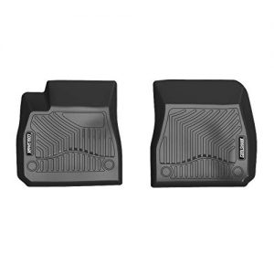 COOLSHARK Chevy Malibu Floor Mats, Custom Fit Floor Liners for 2016-2020 Chevrolet Malibu, Front Sets Floor Mats Only, All Weather Guard, Black Color