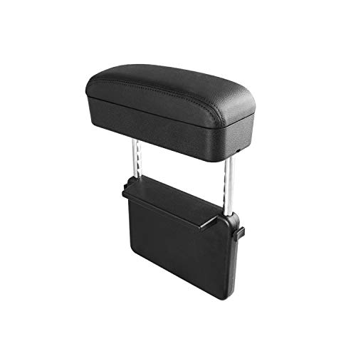 CDEFG Armrest Support Elbow Rest Pad Armrest Extender, Console Storage Organizer, Adjustable Height Comfort Arm Rest Pads, Universal Fit for All Car Models (Black Line)