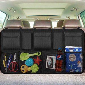 EldHus 43224-13969 Black Trunk Storage-Auto SUV Van Container Car Organization Collapsible Compartment Pocket Mesh
