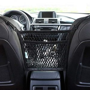 AMEIQ 2-Layer Car Mesh Organizer, Handbag Holder, Purse Pouch Storage Net Pocket, Barrier of Backseat Pet Kids, Driver Storage Netting Bag. (3 optional styles)