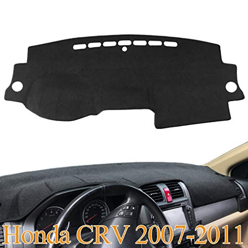 Yiz Dash Cover Mat Custom Fit for Honda CRV 2007 2008 2009 2010 2011,Dashboard Cover Pad (07-11 Black) Z09