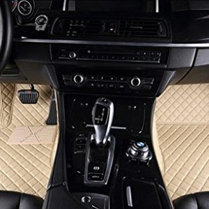 Dedicated Full Surrounded by Car Mats for Nissan Kai Chen D50 R50 T70 Sunshine Qi Jun Waterproof No Odor Carpets Non Slip,Beige